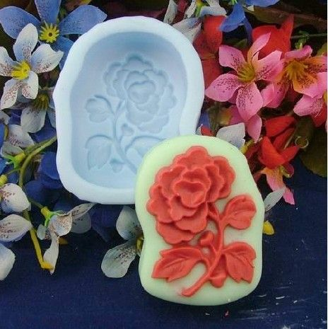 Handmade Soap Molds Soap Mould Biscuit Mold Square Mold Flowers