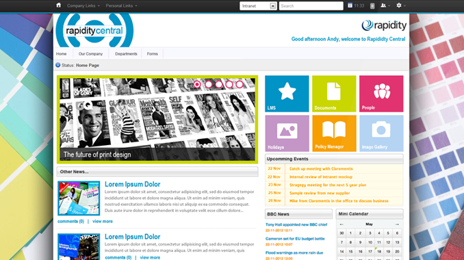 best intranet designs and examples - Intranet Design Ideas