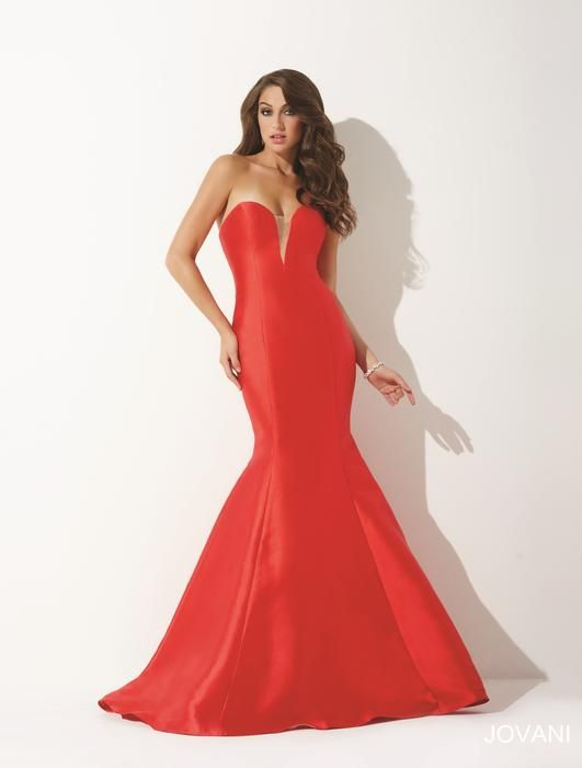 80808504904d7 Jovani Prom Style 31508: Stunning mikado mermaid prom dress features a  strapless sweetheart neckline.