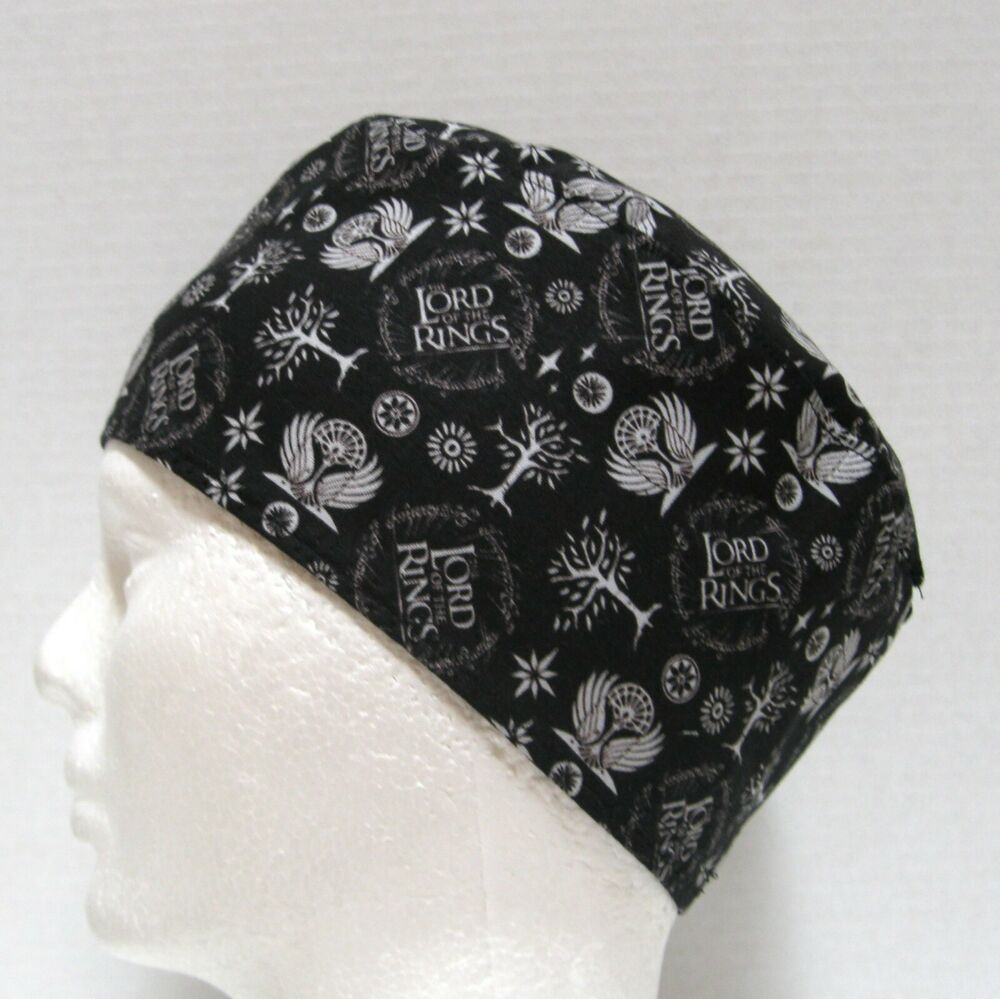 Lord of Rings Mens Scrub Hat, Skull Cap, Chemo Hat