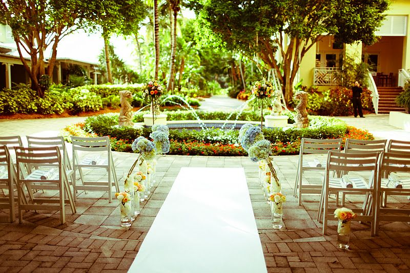 Intimate Ceremony on Banyan Courtyard | Hyatt Regency Coconut Point | Photo Provided by iheART Films