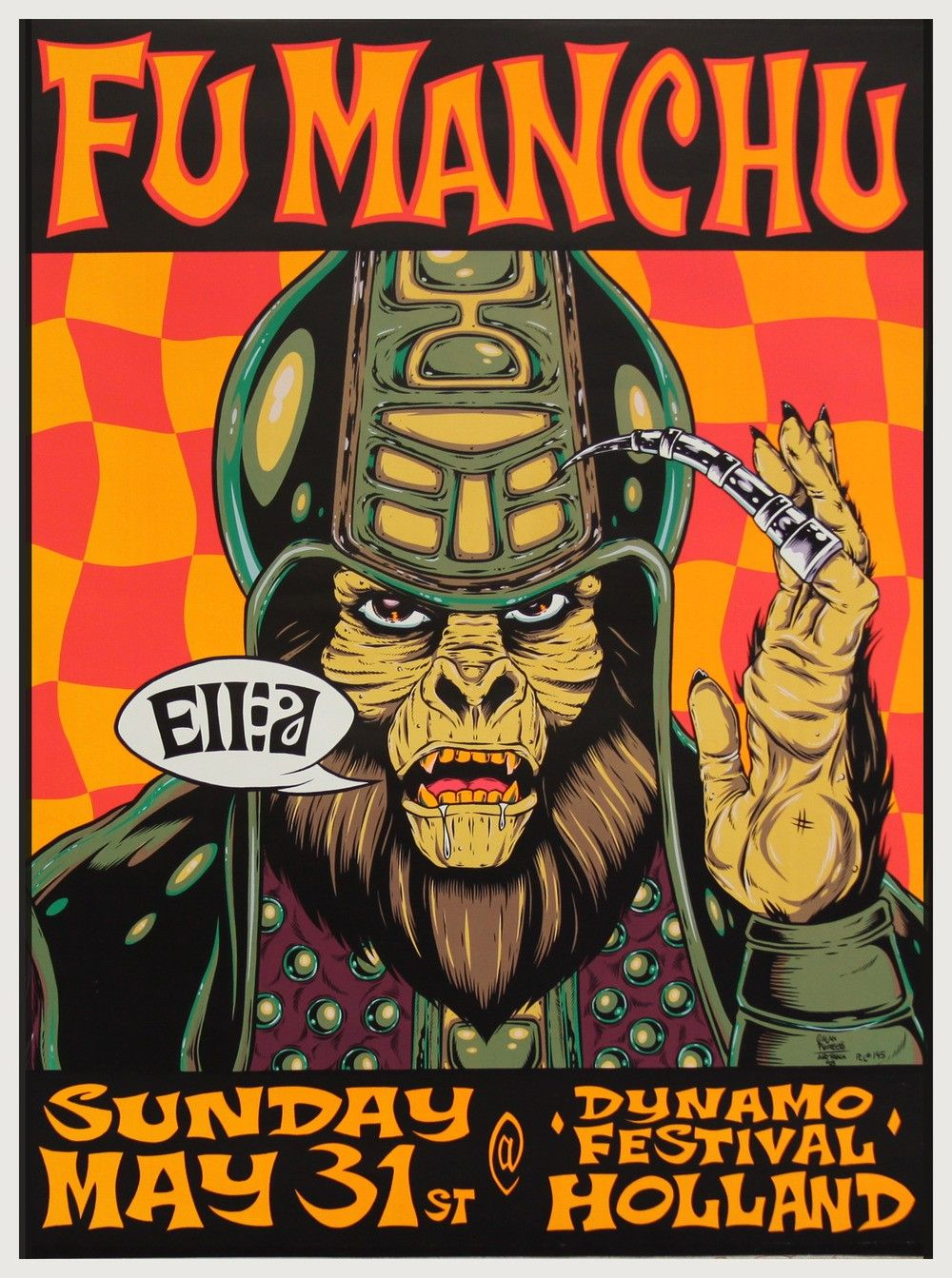 FuManChu by Alan Forbes - 1998 - | Gig Posters by Steven Parker ...