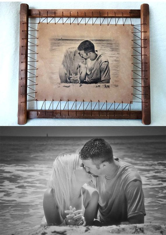 Wedding Gift For Girlfriend Custom Couple Portrait First Anniversary Present Love Gifts Weddin Birthday Gift For Wife Girlfriend Gifts Leather Anniversary Gift