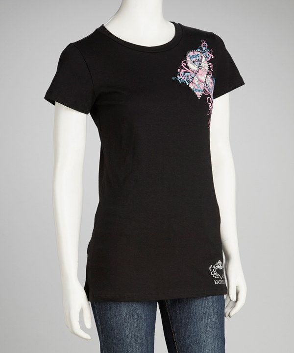 Look at this Black Pink Ribbon Awareness Short-Sleeve Tee - Women on #zulily today!