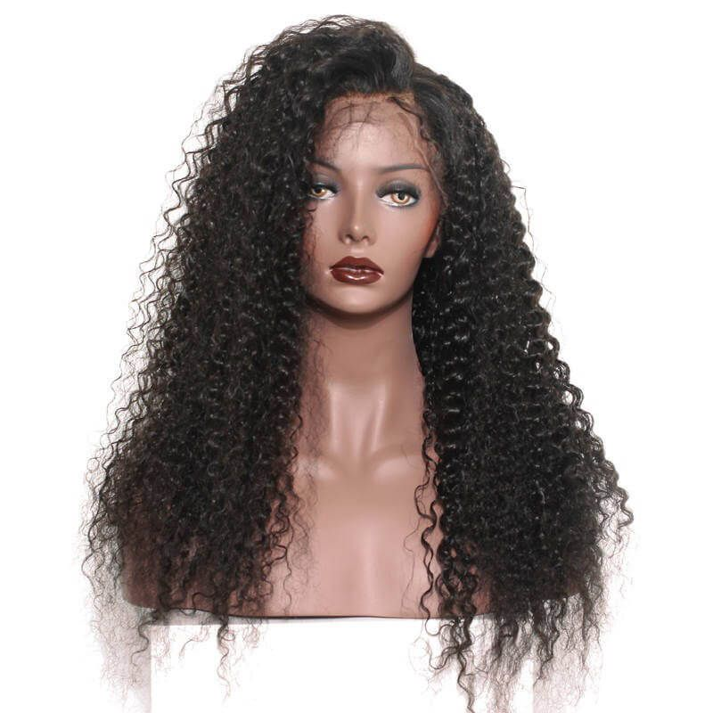 300% Density African American Lace Front Wigs For Women Brazilian Curly    Eseewigs.com 1e1020b236