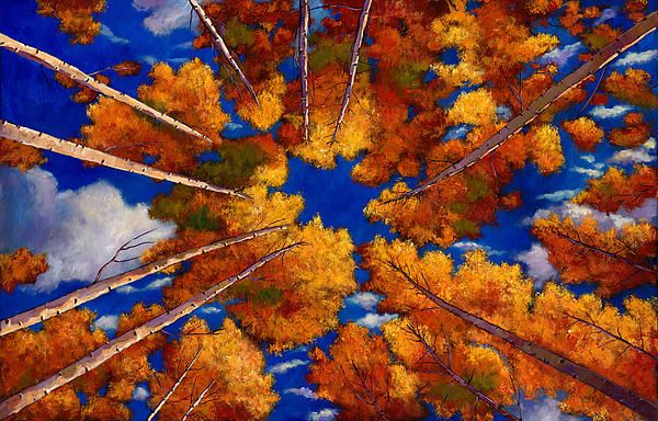 Aspen Vortex Painting by Johnathan Harris - Aspen Vortex Fine Art Prints and Posters for Sale