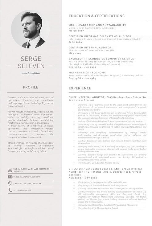 Resume Template 110960 Template, Modern resume template and Modern