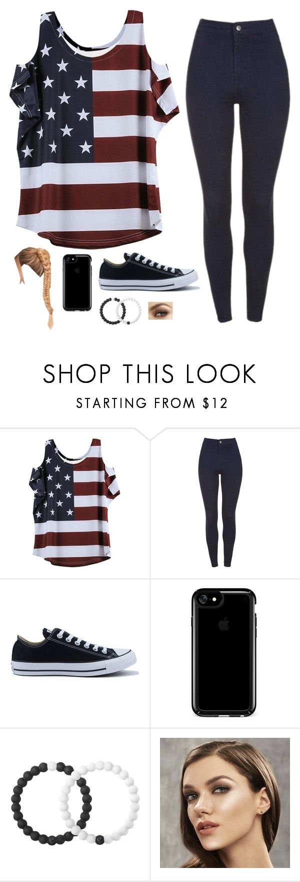 """Untitled #4975"" by if-i-was-famous1 ❤ liked on Polyvore featuring Converse, Speck and Lokai"