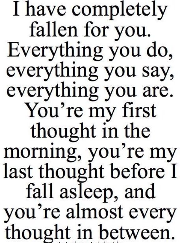 for you falling