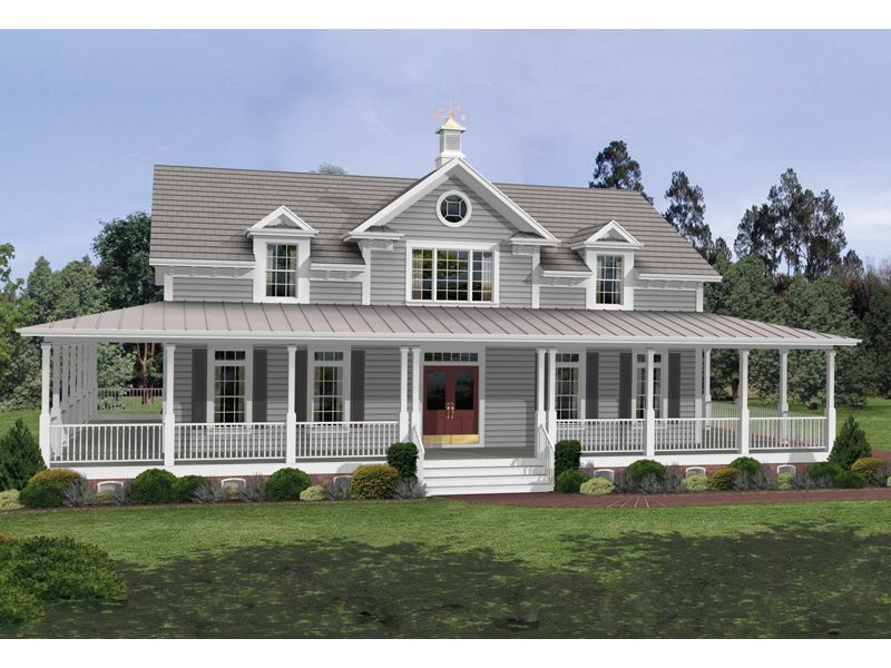 Milner Country Home Farmhouse Style House Plans Colonial House Plans Country Style House Plans