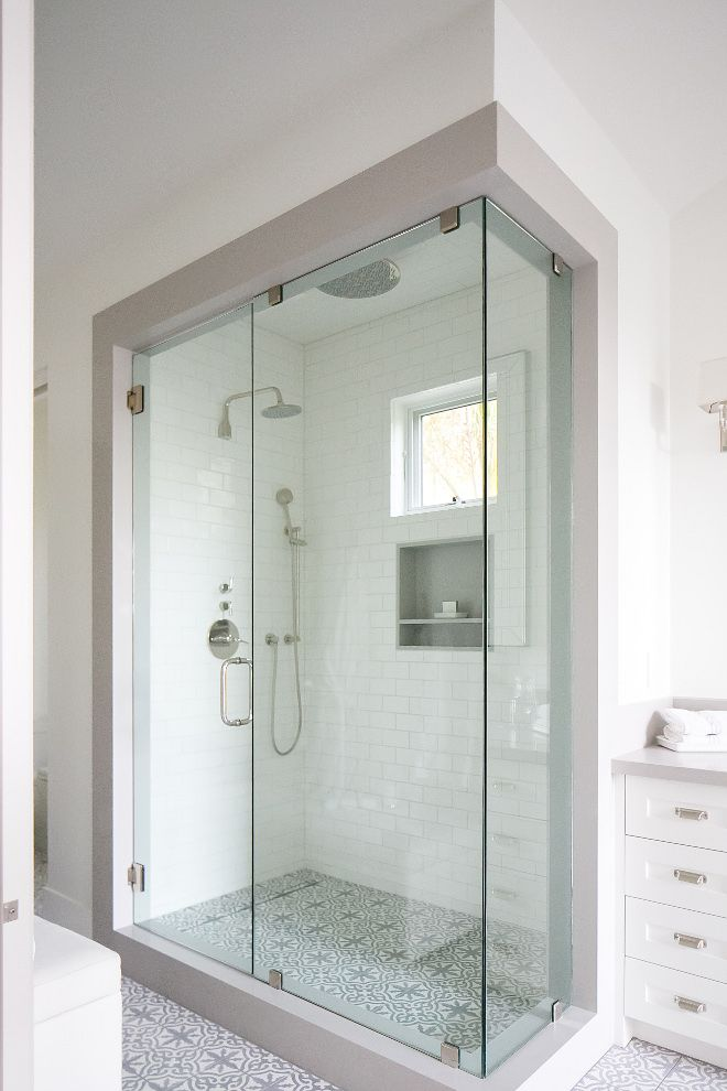 bathroom frameless glass shower door this bathroom features a frameless glass shower door and accompanying panel 12 thick fully enclosed by a shower jamb - Frameless Glass Shower Door