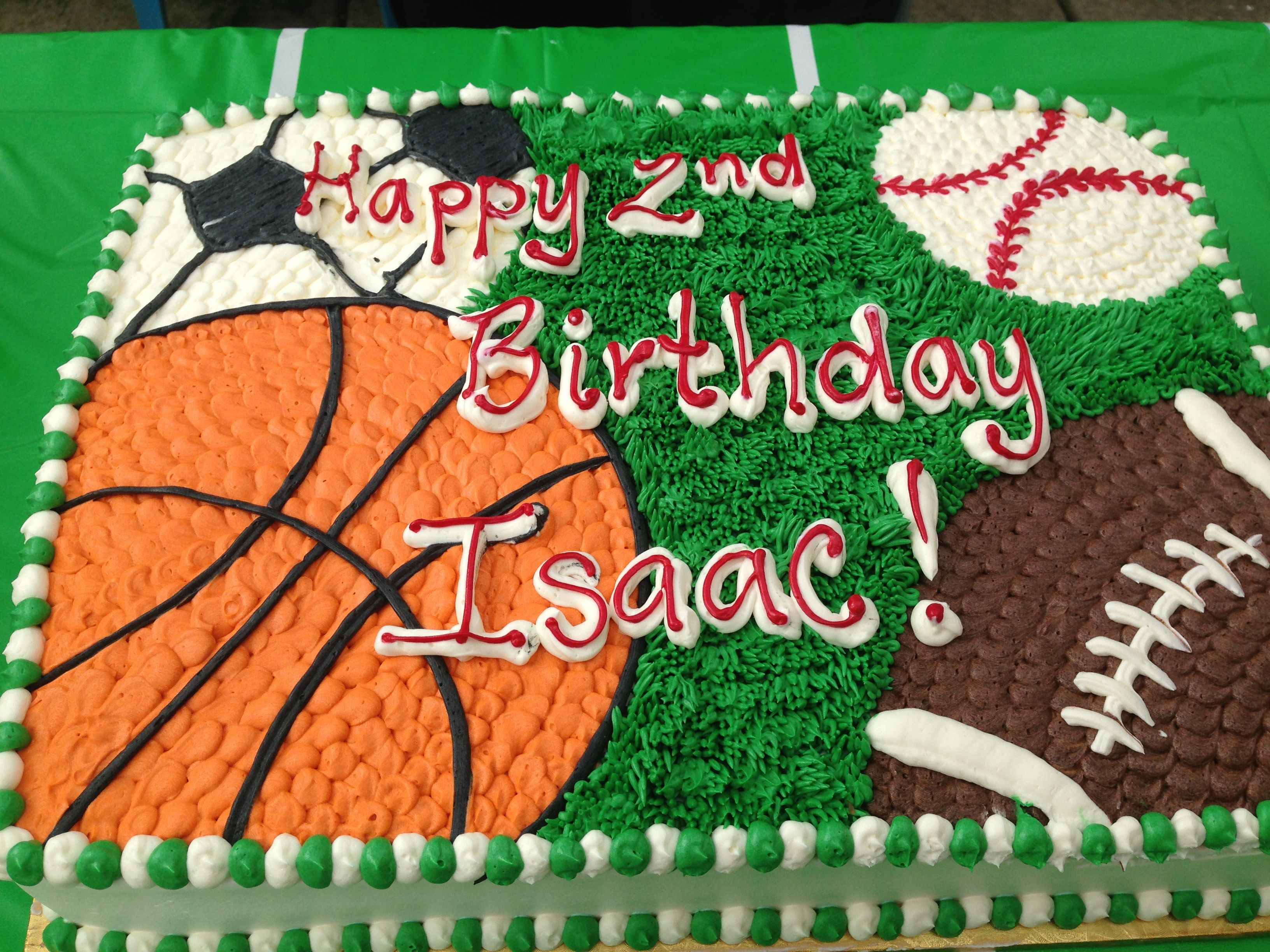 Sensational Sports Theme Cake With Images Sports Themed Birthday Party Funny Birthday Cards Online Alyptdamsfinfo