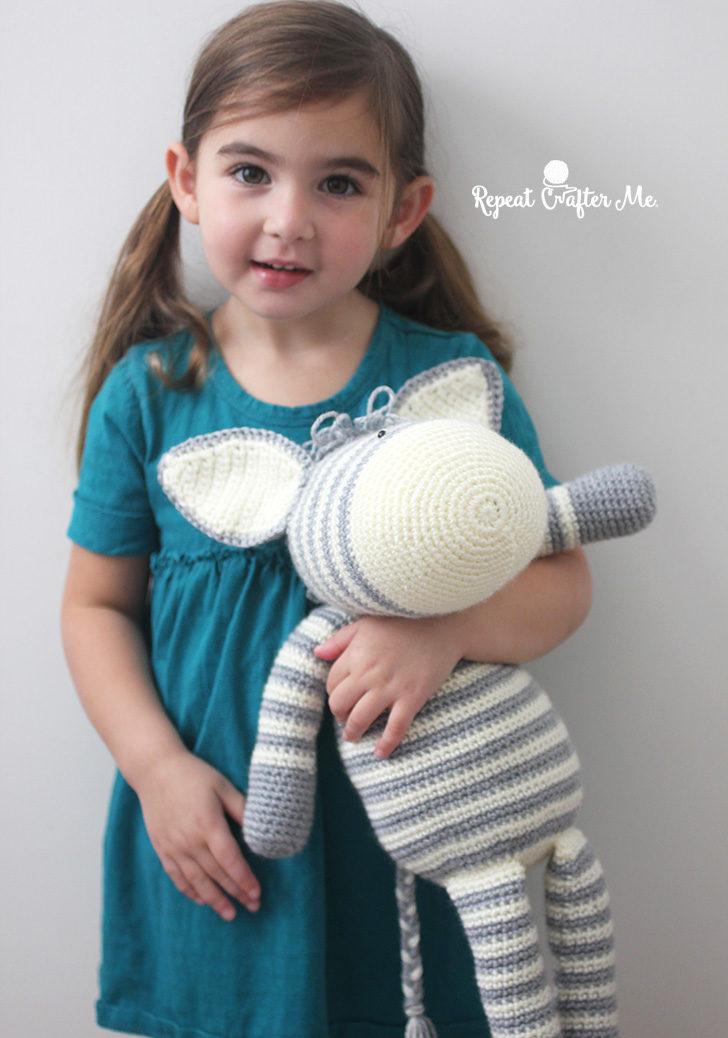 Crochet Zebra based on Yarnspirations Knit Zebra | Crochet ...
