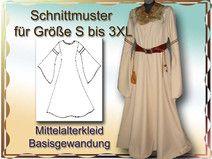 Mittelalterkleid Schnittmuster S bis 3XL e-book