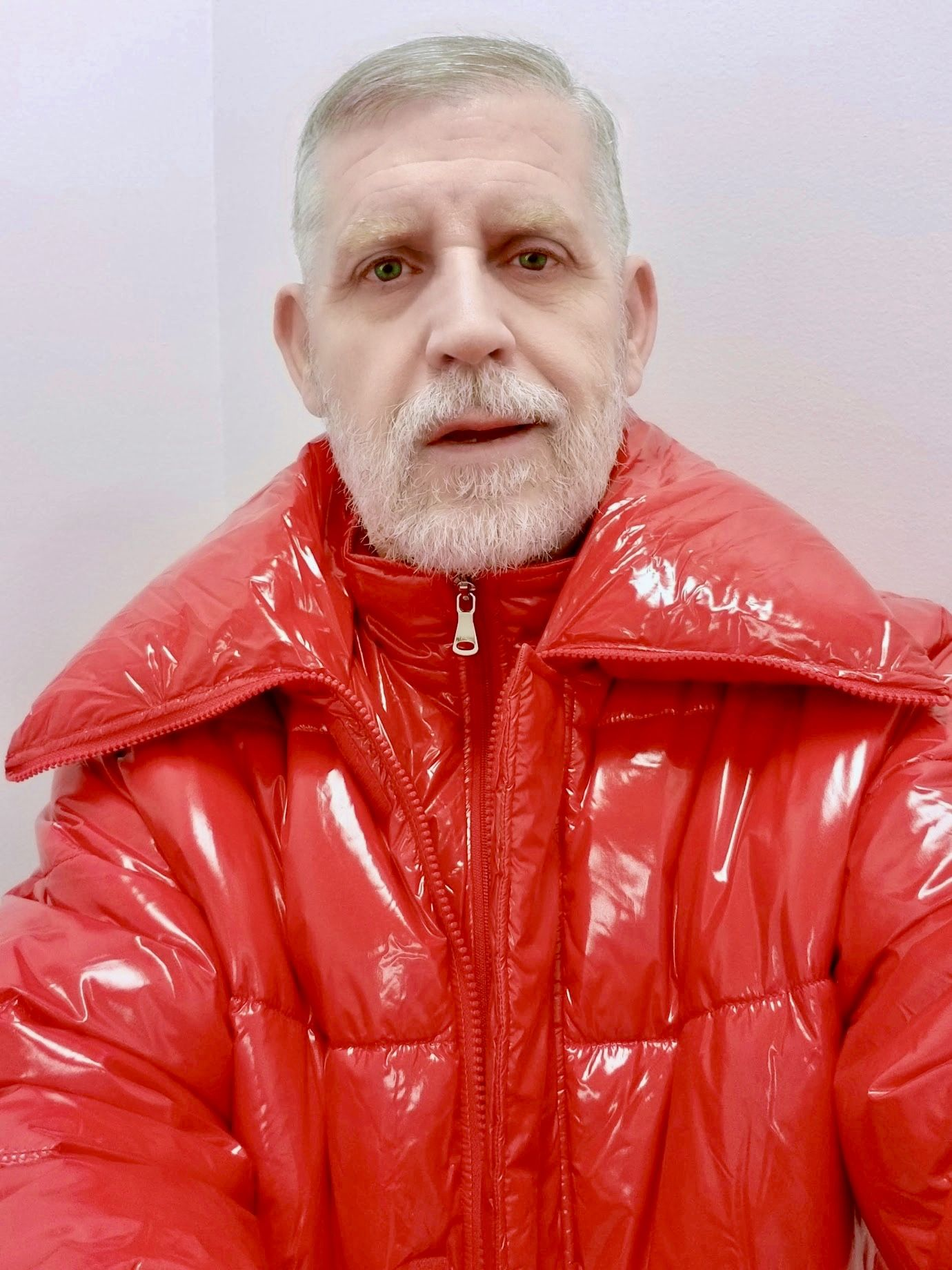 Andrea Montenegro En Latin Lover green eyed blond albanian man | red, winter jackets, leather