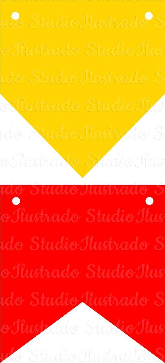 View Design: flags and banners party in june, bandeirinhas de festa ...