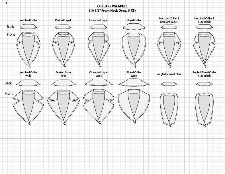 fashion sketch templates adobe illustrator vector sketches jacket collars dibujos tecnicos. Black Bedroom Furniture Sets. Home Design Ideas