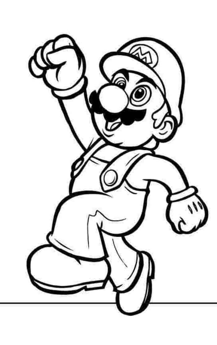 Free Mario Coloring Pages   Super mario coloring pages ...