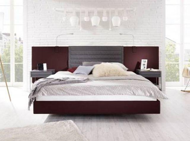Lit design tete de lit bois tete lit pinterest lit for Les plus beaux lits