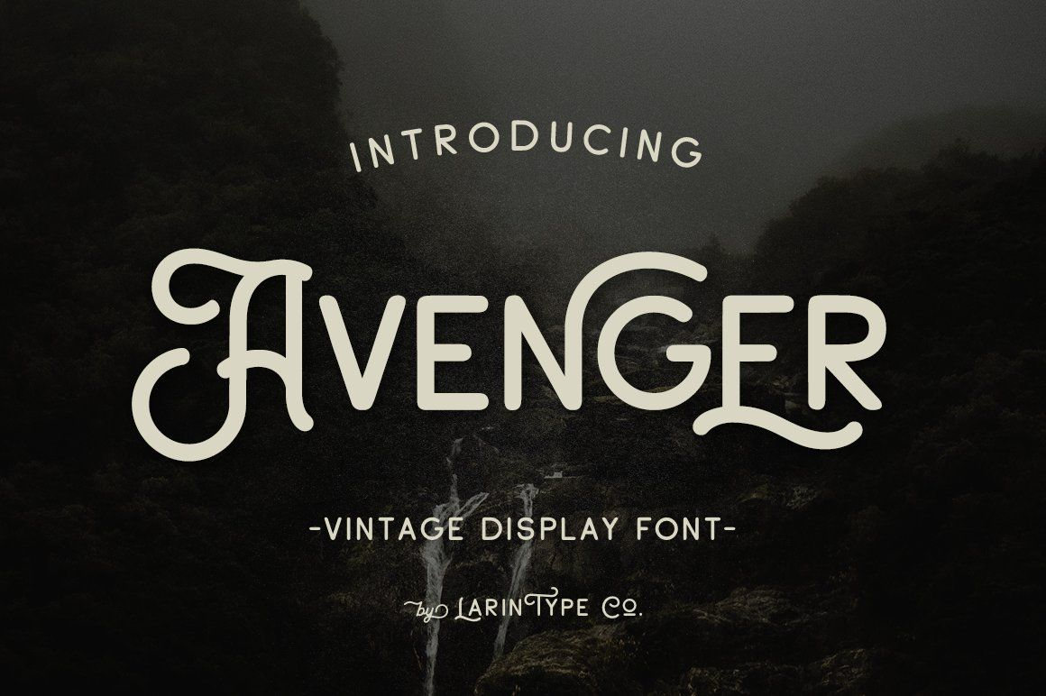 Avenger in 2020 Website fonts, Vintage display, Fonts