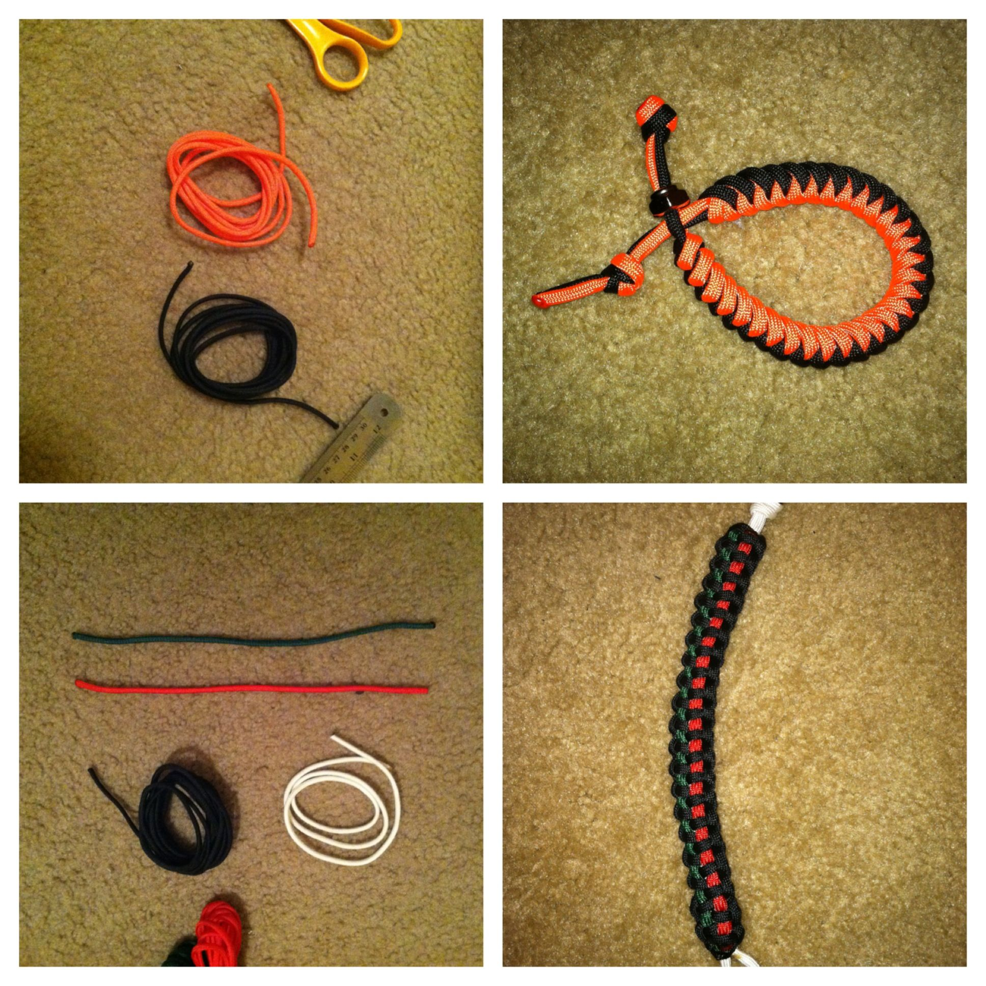 easy to make paracord bracelets �snake braid 6 feet of