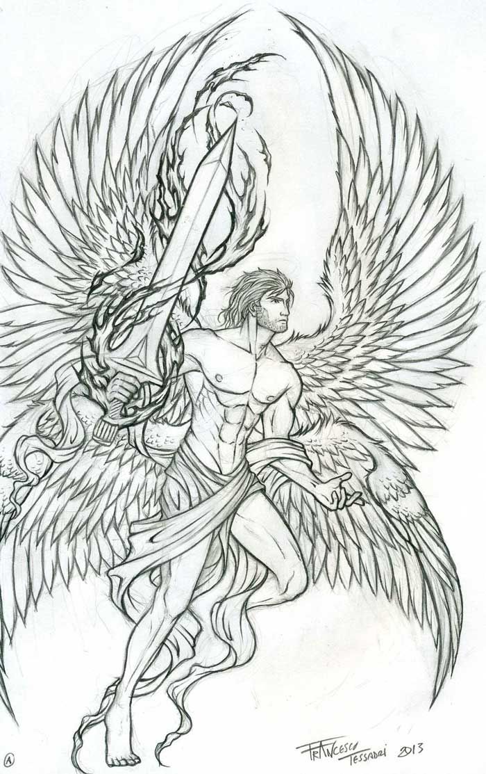 archangel tattoo google search tattoo art pinterest croquis de tatouage tatouage bras. Black Bedroom Furniture Sets. Home Design Ideas