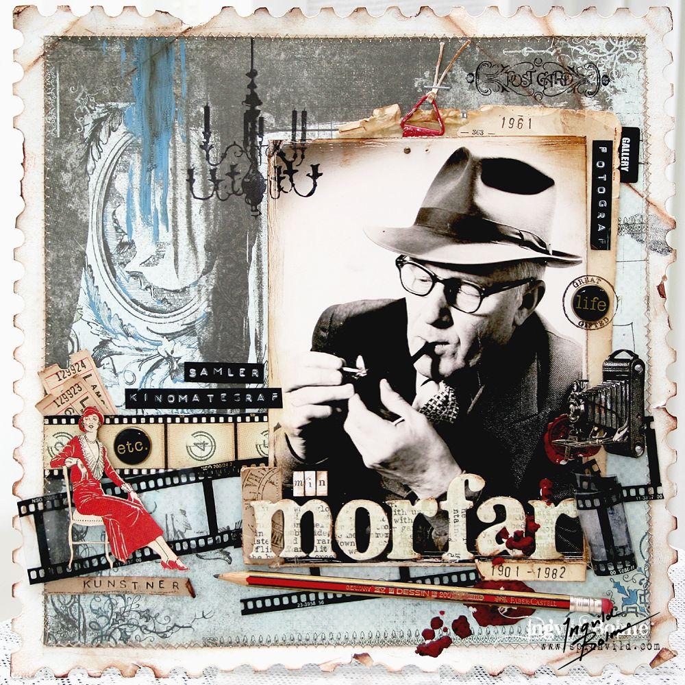 Min Morfar (My Grandfather) -layout made 2009