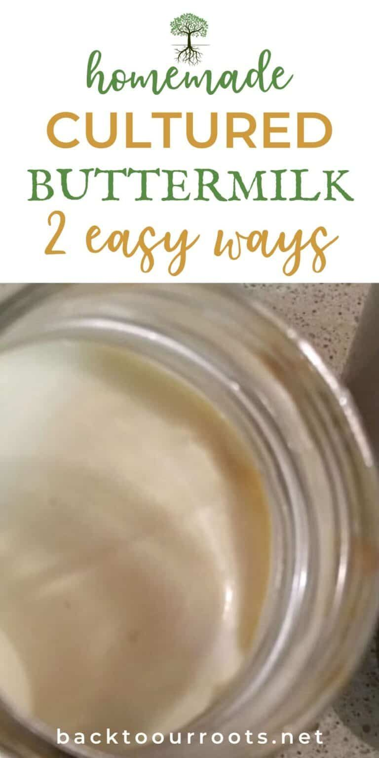 Make Homemade Cultured Buttermilk 2 Easy Ways In 2020 Cultured Buttermilk Buttermilk Recipes Buttermilk