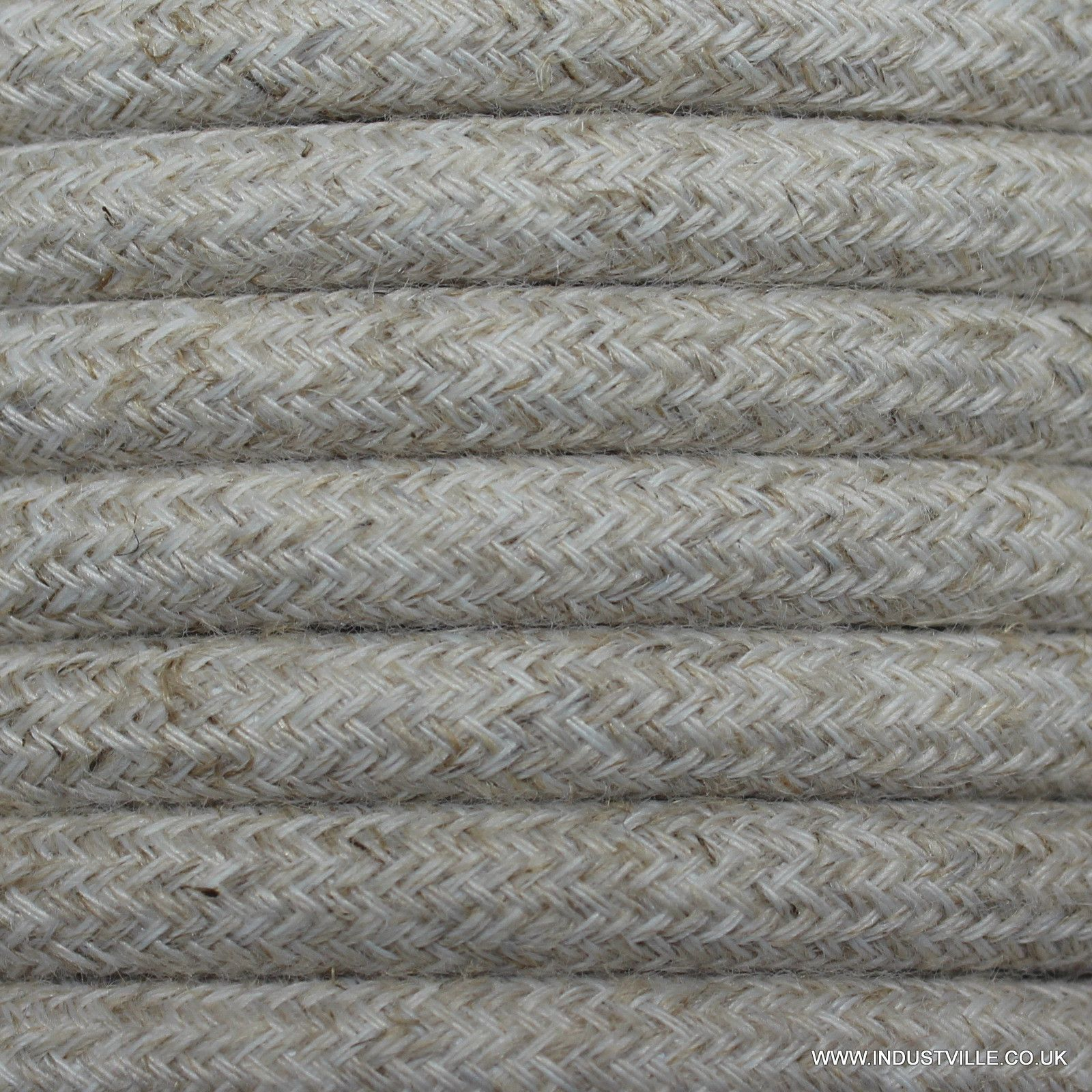 Linen Round Fabric Flex - 3 Core Braided Cloth Cable Lighting Wire ...