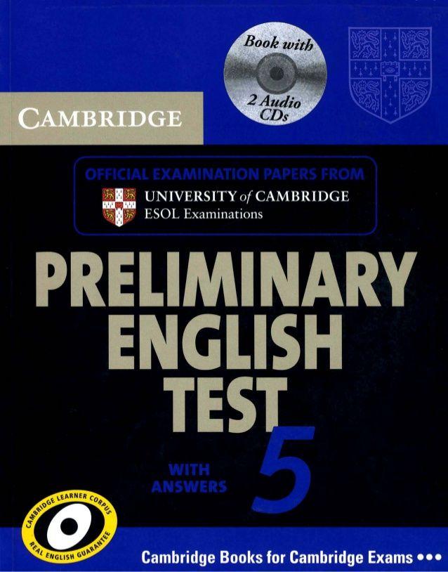 Cambridge preliminary english test 5 book pdf (1) | Listening