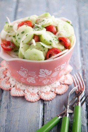 paula deen cucumber, tomato and onion salad