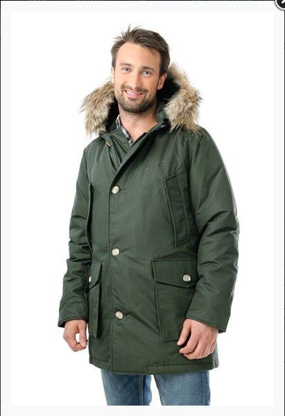 Woolrich Arctic Parka Anorak M Army Green Sale - Pas Cher Woolrich Arctic Hommes Anorak Armygreen Noire Places To