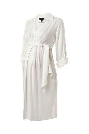 8ba7d40a34f89 Isabella Oliver Pianna Shirt Dress White | Maternity Dresses | Nursing  Dresses