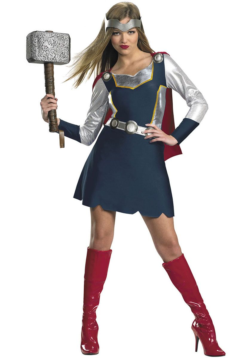 Classic Thor Girl Costume - Superhero Costumes at Escapade UK ...