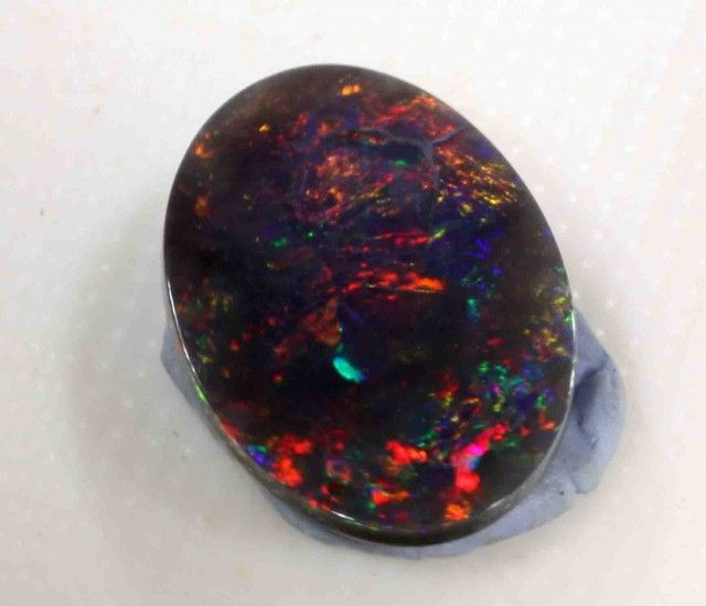 BLACK OPAL FROM LR - 1.23 CTS NATURAL BLACK OPAL FROM LIGHTNING RIDGE NEW SOUTH WALES AUSTRALIA, BLACK OPAL GEMSTONE AT OPALAUCTIONS.COM