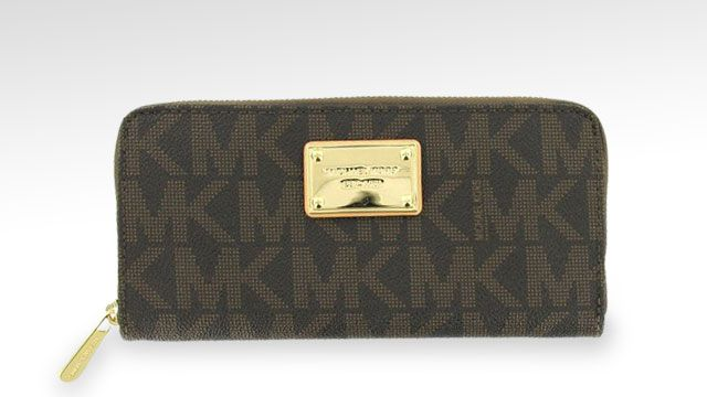 MICHAEL Michael Kors Mk Logo Zip Around Continental