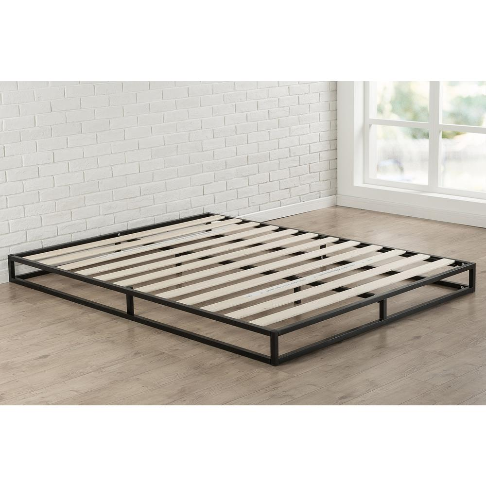 Zinus Joseph Modern Studio 6 Inch Platforma Low Profile Bed Frame Full Hd Mbbf 6f The Home Depot In 2020 Metal Platform Bed Low Profile Bed Frame Low Platform Bed Frame