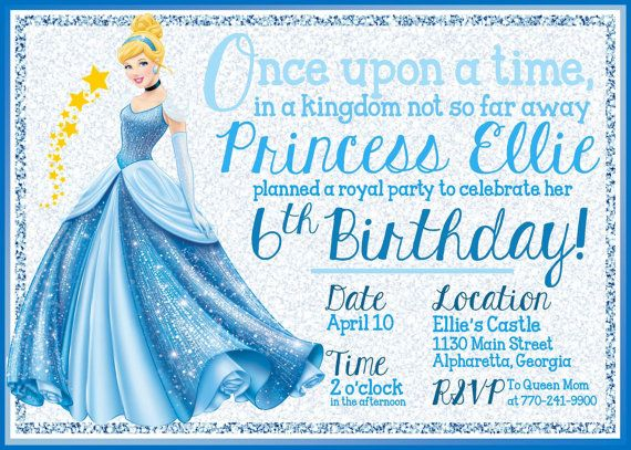 Invitation wording:  once upon a time in a kingdom far way, princess L celebrated get 2nd bday