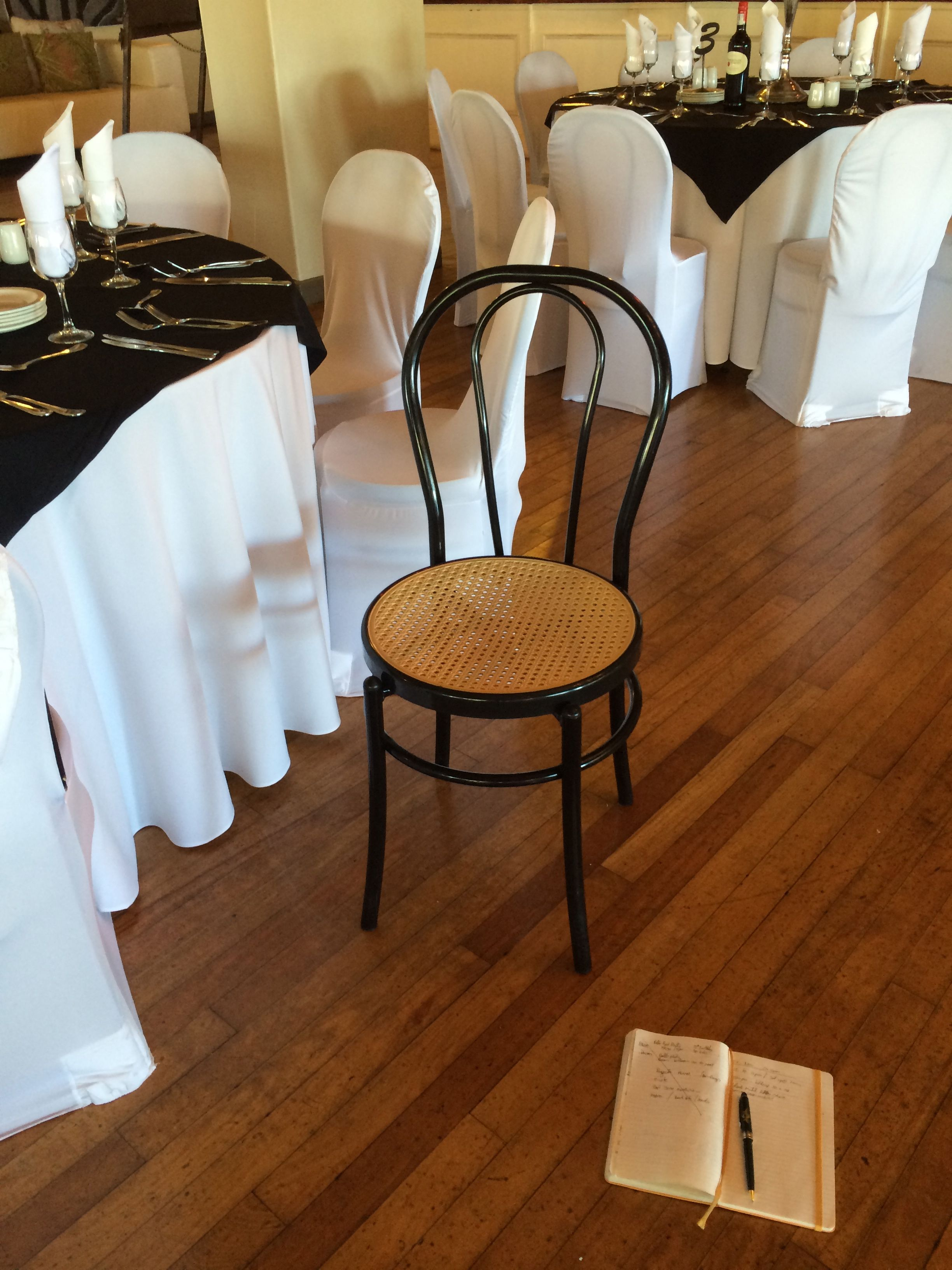 chair style at the venue. beautiful!