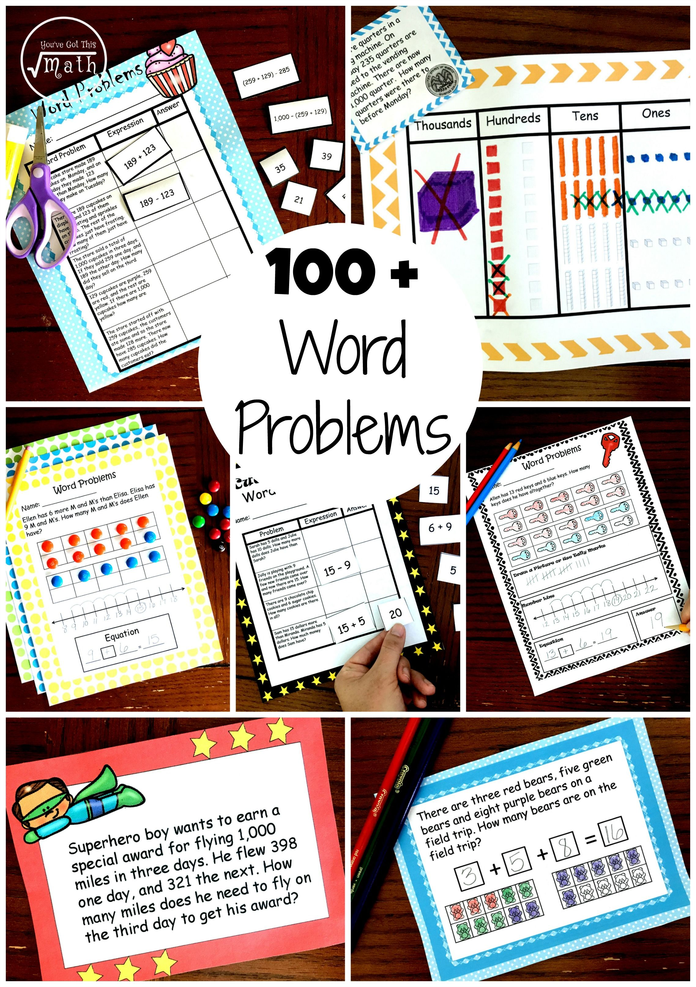 100 Word Problems For K