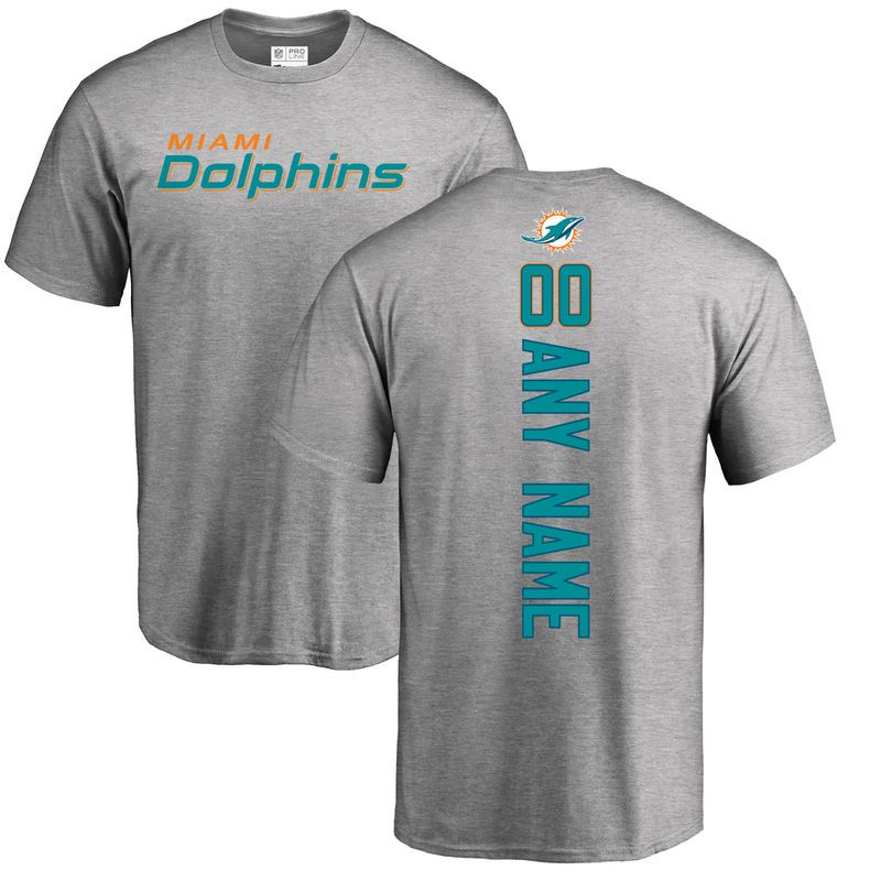 Miami Dolphins NFL Pro Line Personalized Backer T-Shirt - Ash ... ad48a7e5f