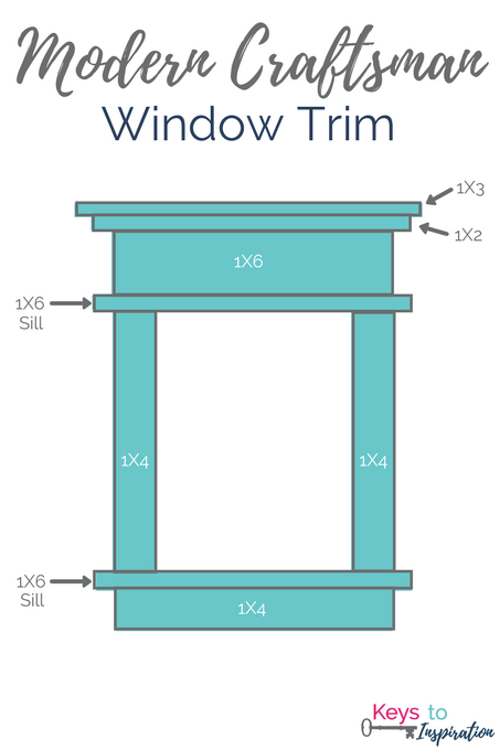Diy Modern Craftsman Window Trim For The Home Craftsman Window