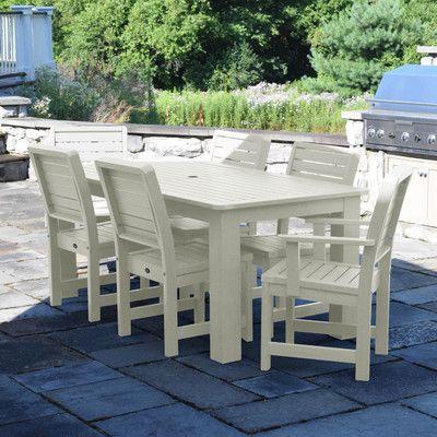 Highwood USA Weatherly 7 Piece Dining Set Finish: Whitewash