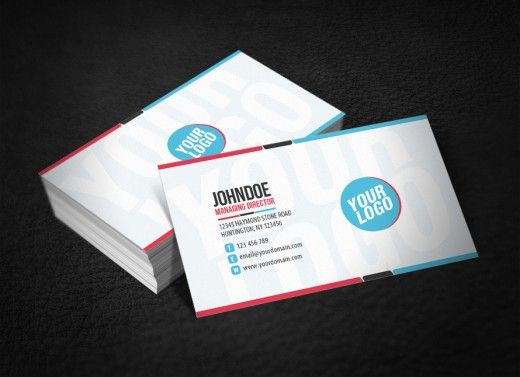 Clean Funky Business Card 520x377 Jpg 520 377 Business Cards Cards Business