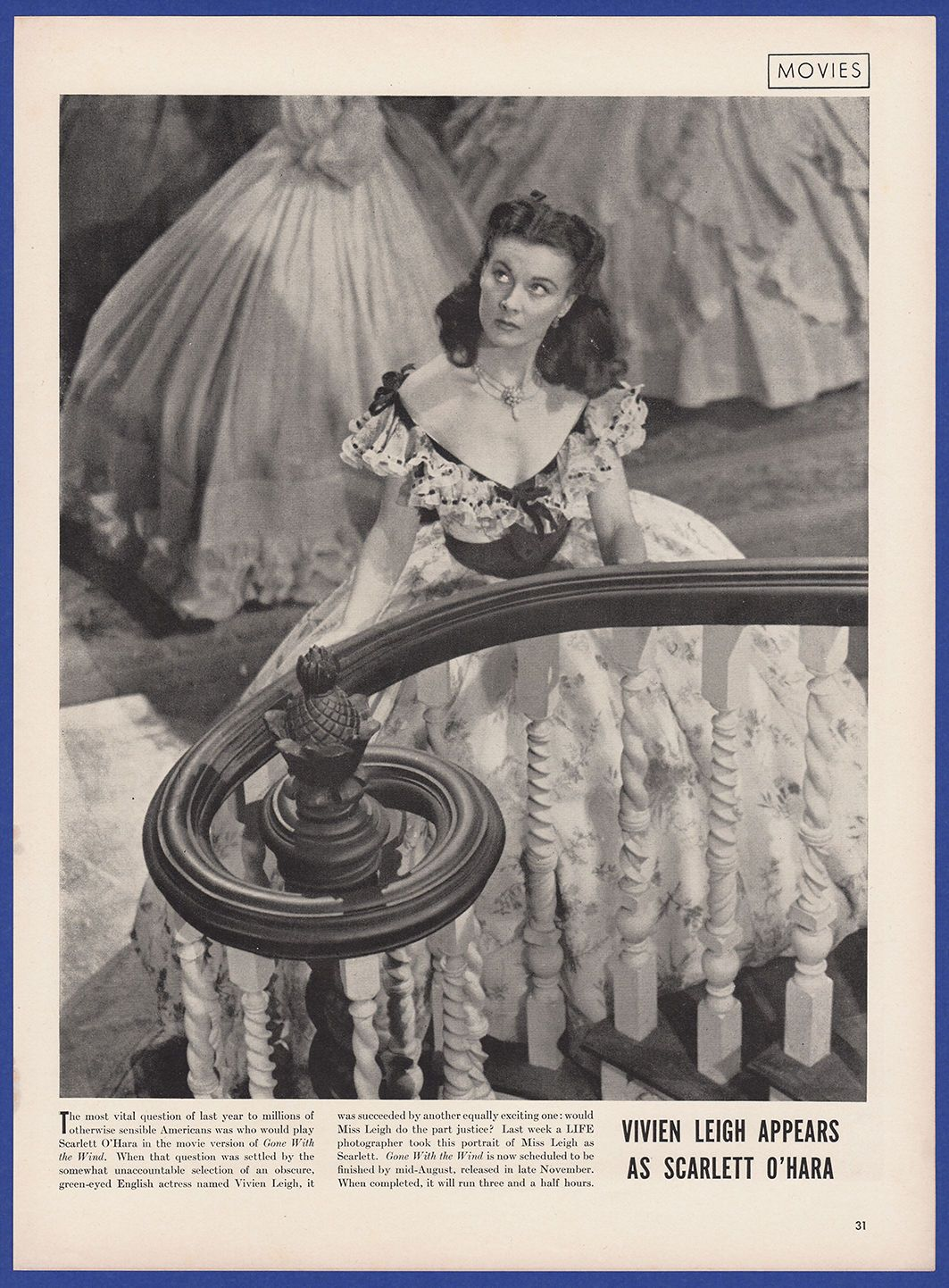 Original Movie Gone with The Wind Vivien Leigh Promo ...