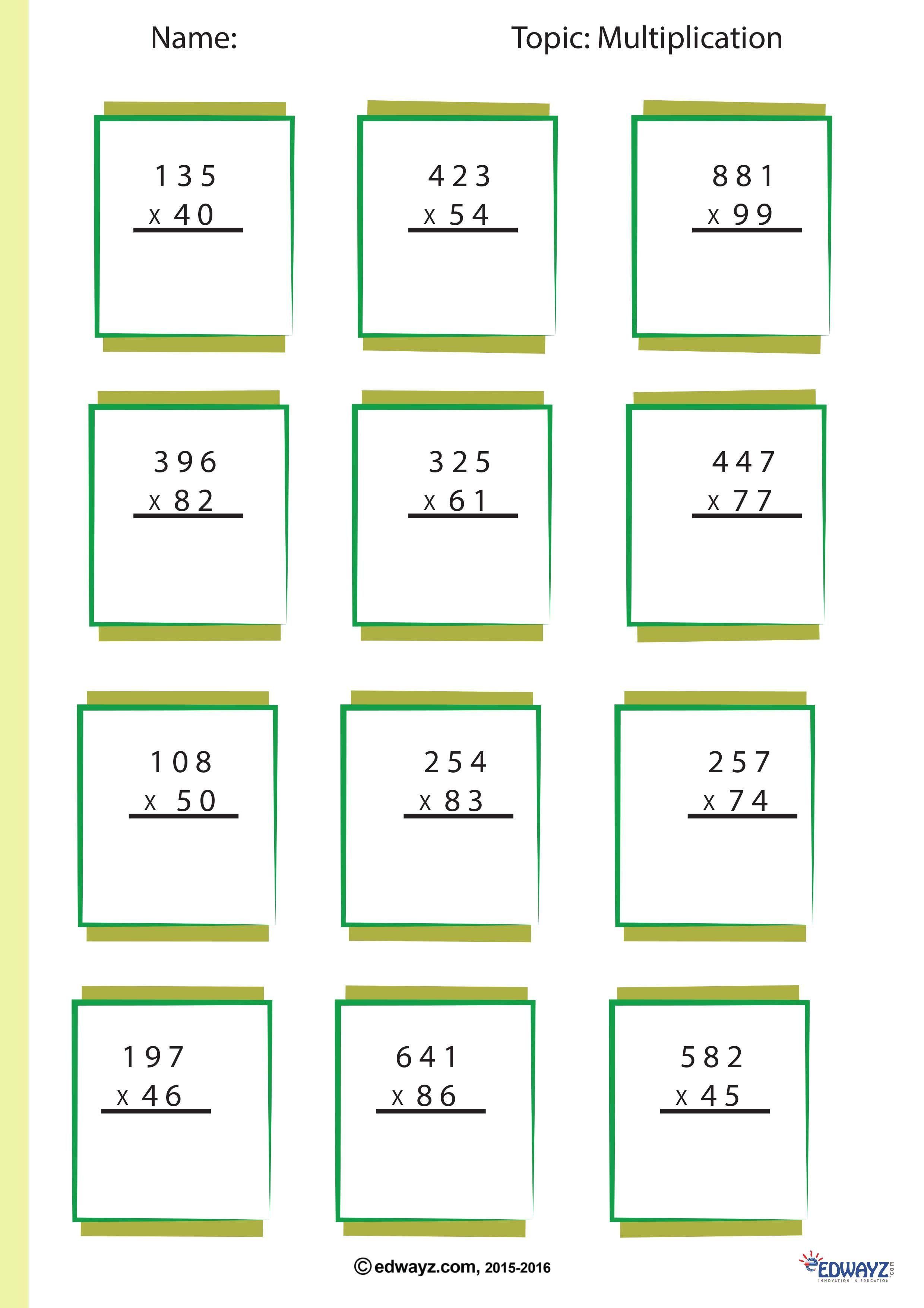 Math Worksheet Class 4th Worksheet Math In 2020 Math Multiplication Worksheets Math Multiplication Free Printable Math Worksheets