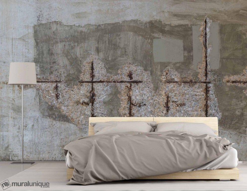 Vieux mur de b ton arm achetez en ligne des murales en - Peindre un mur en beton ...
