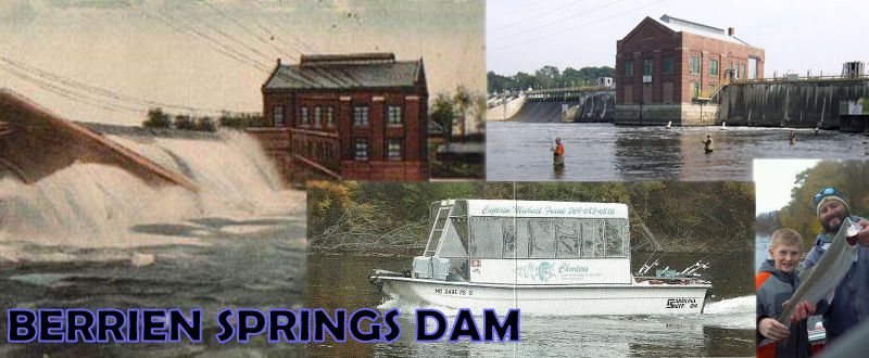 This is a collage containing various berrien springs dam for Berrien springs fish cam