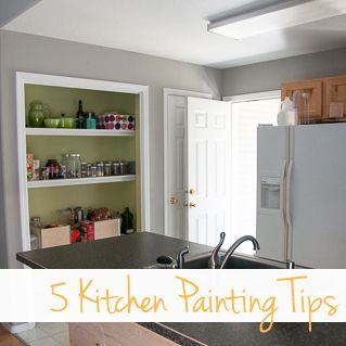 5 Tips for Painting a Kitchen | Painting with Brush Strokes | Pinterest