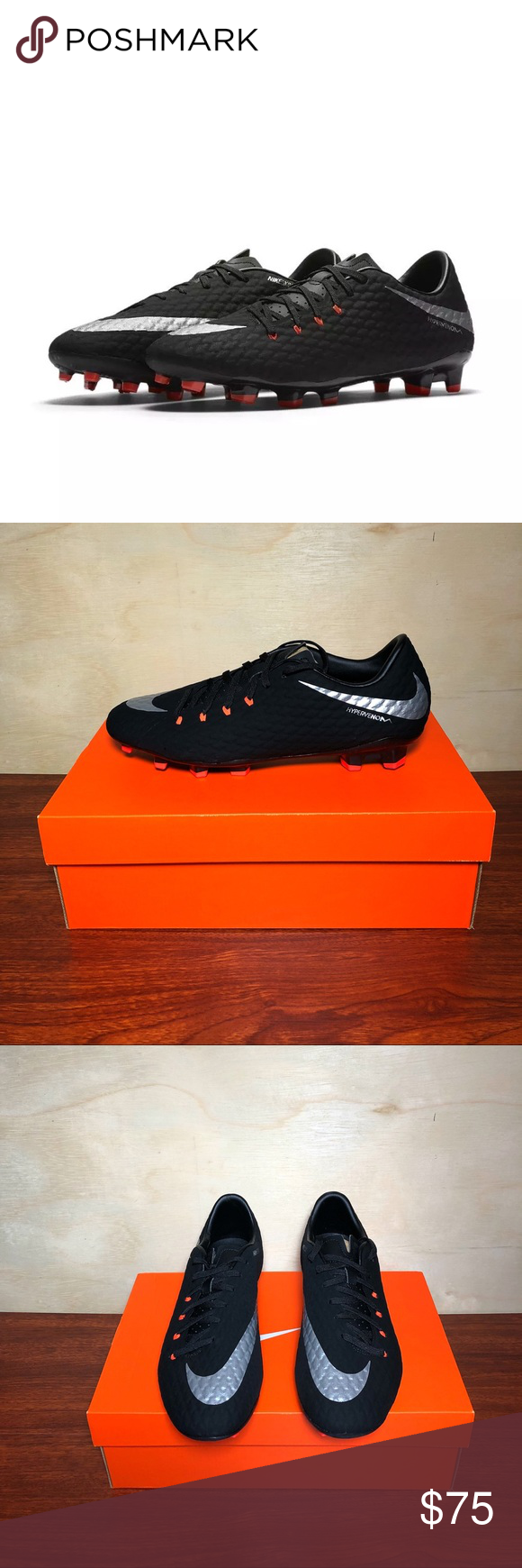 4b52f189ee5a Men s Nike Hypervenom Phelon III FG Soccer Cleats These are brand new in original  shoe box! 100% authentic guaranteed. Many happy customers! Fast shipping!